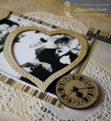 Альбом на жемчужную свадьбу: объемные украшения