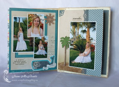 Альбом про Кипр: страницы с фотосессией под пальмами