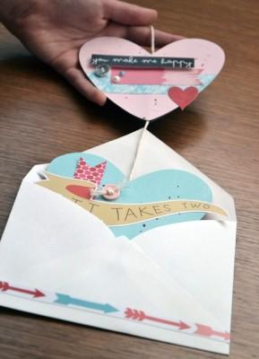 Сердечки из конверта