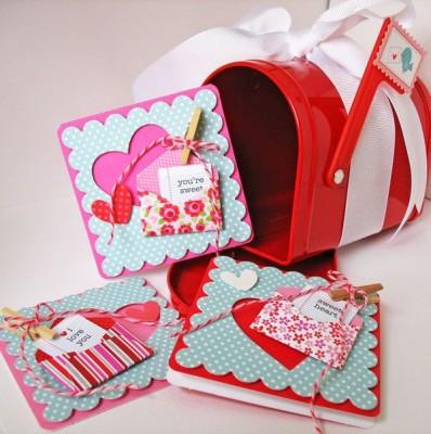 Валентинки с конвертиками