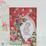 Открытка к 8 марта: цветы и Париж