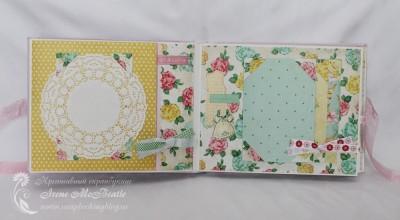 Альбом для новорожденной: бумага Crate Paper