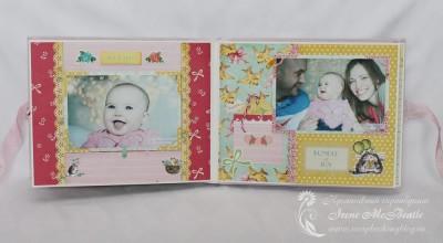 Альбом для новорожденной: разворот с картинками