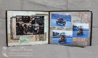 Мужской альбом - разворот про мотоциклы