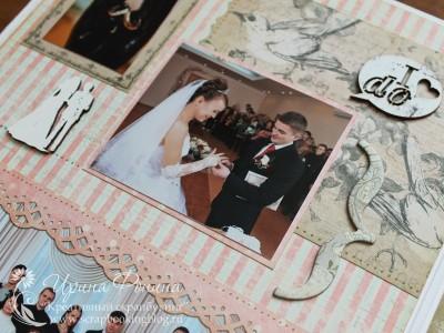 Свадебный фотоальбом: обмен кольцами