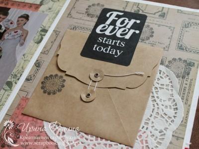Свадебный фотоальбом: конверт для CD