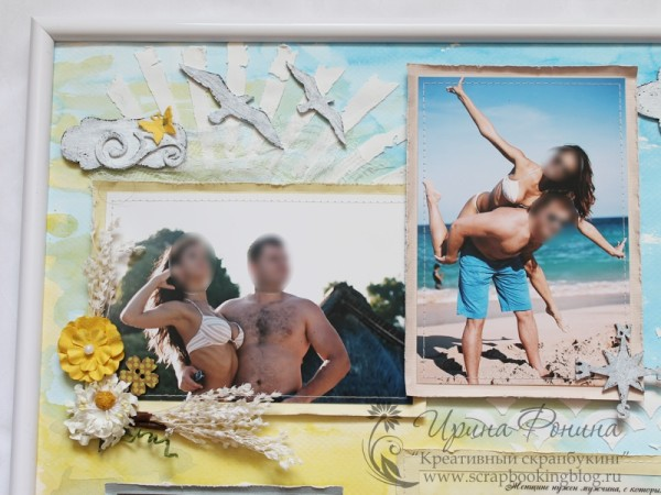 Коллаж из фотографий в раме - смешанные техники