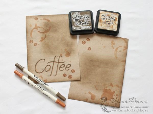 Фон - чернила и маркеры