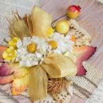 Бумажные цветы на открытке