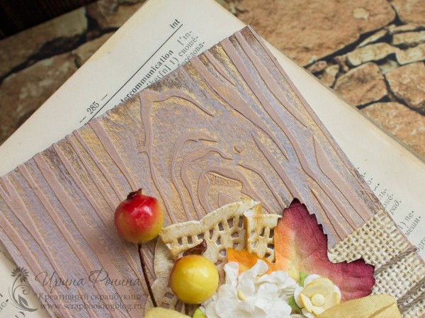 Фон с текстурой дерева на открытке