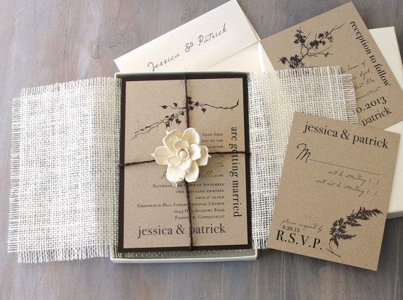 Рустик пригласительные на свадьбу