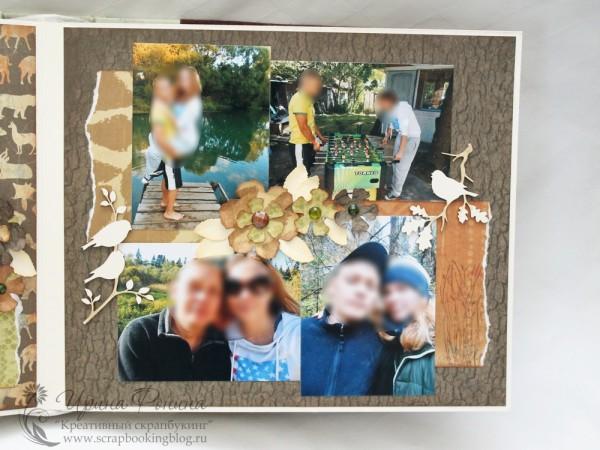 Альбом Love Story - цветы и чипборд