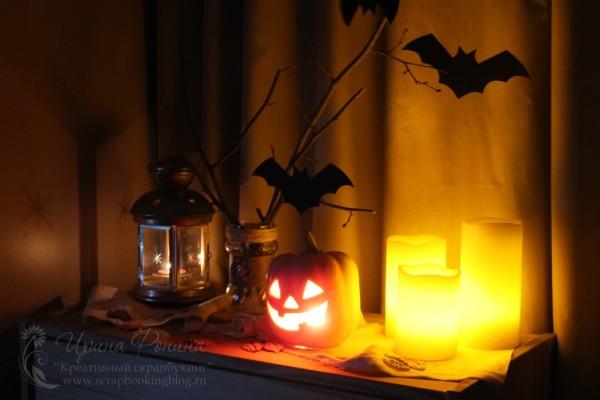 Декор на хеллоуин - в темноте