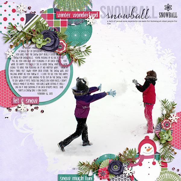 Цифровой скрапбукинг - зимняя страничка