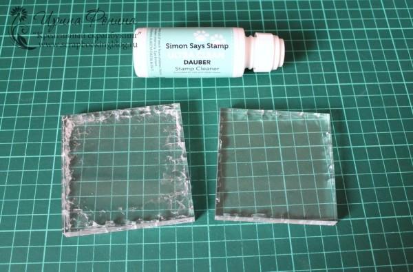 Результат применения SSS Ultra Clean Dauber на акриловых блоках