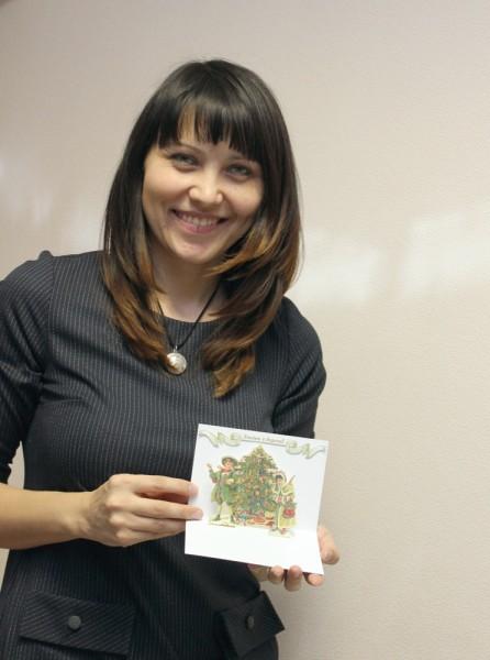 Валентина и ее открытка для Старость в радость