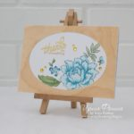 Altenew - Peony Bouquet - Wood Card