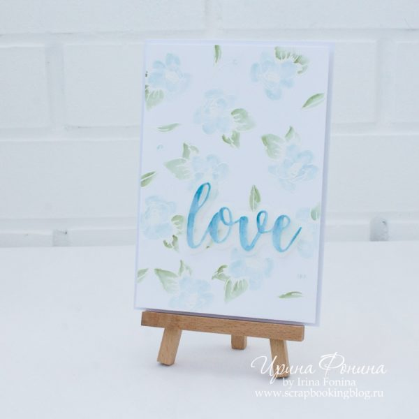 Altenew Painted Flowers Card