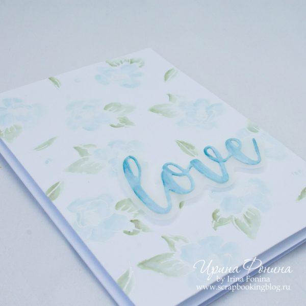 Altenew Painted Flowers Card 2 - Script Word Dies