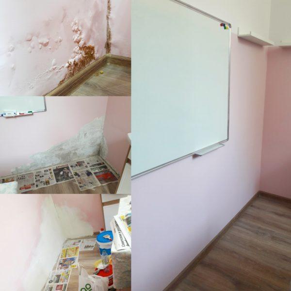 Ремонт в студии - до и после