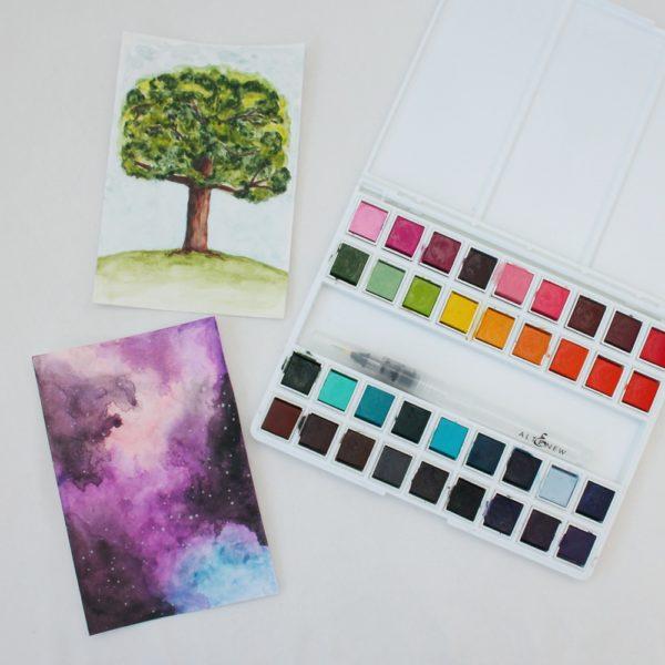 Altenew - акварельные краски - примеры