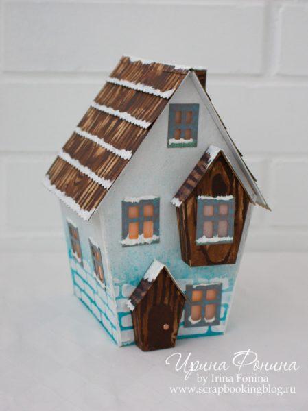 Зимний домик из бумаги - 01