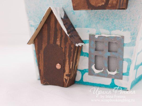Зимний домик из бумаги - 03