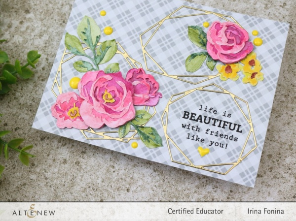 Altenew Blog Hop - Life is Beautiful Card - 2