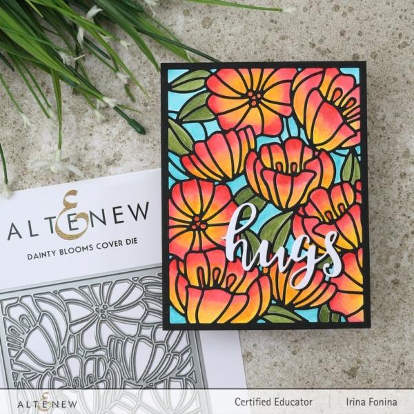 Altenew Blog Hop - Dainty Blooms Cover Die - 01